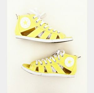 CONVERSE Yellow Gladiator Cut Out Sandal Sneakers